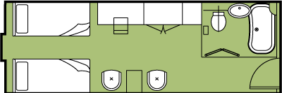 Victoria Jenna Superior Cabin Room Diagrams