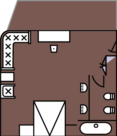 Victoria Lianna and Selina Shangri La Suites Room Diagram