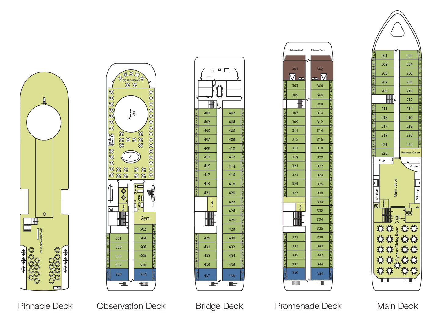 Victoria Selina Deck Plans